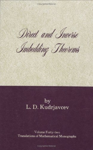 Direct and Inverse Imbedding Theorems. Applications to: L. D. Kudrjavcev