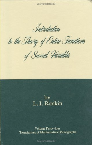 9780821815946: Introduction to the Theory of Entire Functions of Several Variables
