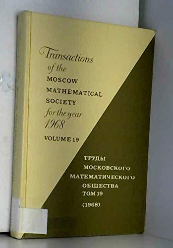 9780821816196: Transactions of the Moscow Mathematical Society: For the Year 1968