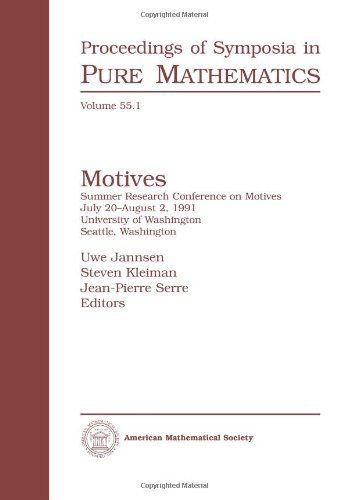 9780821816363: Motives: Pt. 1: Summer Research Conference : Selected Papers (Proceedings of Symposia in Pure Mathematics)