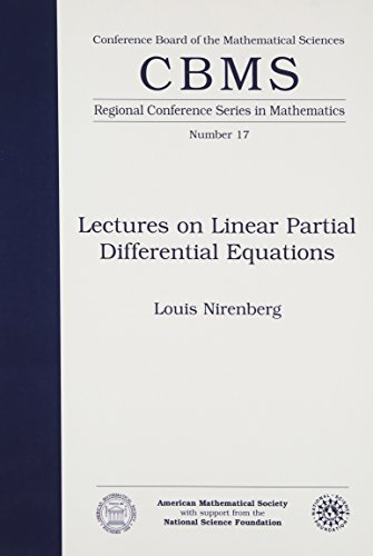 9780821816677: Lectures on Linear Partial Differential Equations (CBMS Regional Conference Series in Mathematics No. 17)