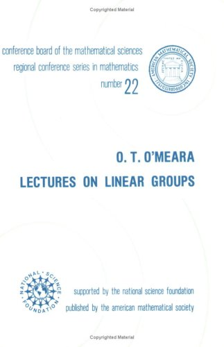 9780821816721: Lectures on Linear Groups (CBMS Regional Conference Series in Mathematics)