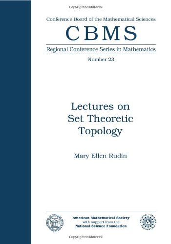 9780821816738: Lectures on Set Theoretic Topology (Cbms Regional Conference Series in Mathematics)