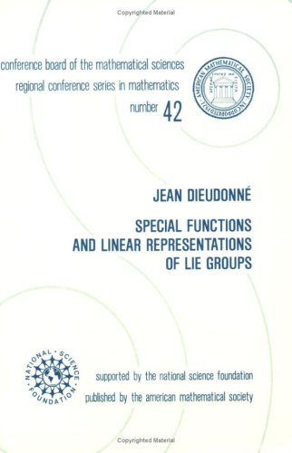 9780821816929: Special Functions and Linear Representations of Lie Groups (Regional Conference Series in Mathematics)