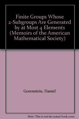 Finite Groups Whose 2-Subgroups Are Generated by: Gorenstein, Daniel, Harada,