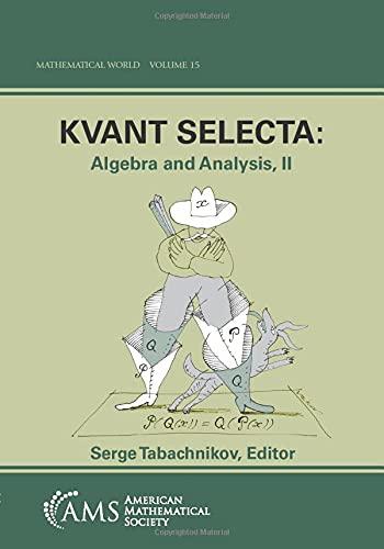 9780821819159: Kvant Selecta: Algebra and Analysis II (MATHEMATICAL WORLD)