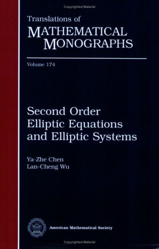 9780821819241: Second Order Elliptic Equations and Elliptic Systems (Translations of Mathematical Monographs)