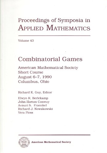 9780821819258: Combinatorial Games (Proceedings of Symposia in Applied Mathematics)