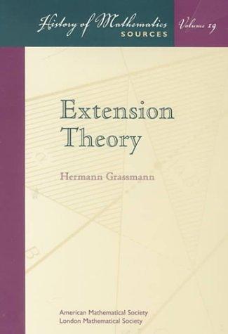 9780821820315: Extension Theory (History of Mathematics, 19.)