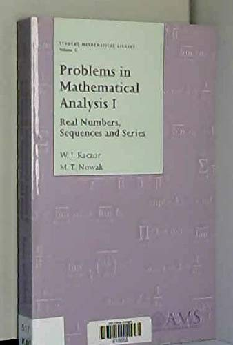 9780821820506: Problems in Mathematical Analysis I: Real Numbers, Sequences and Series: Real Numbers, Sequences and Series Vol 1 (Student Mathematical Library)