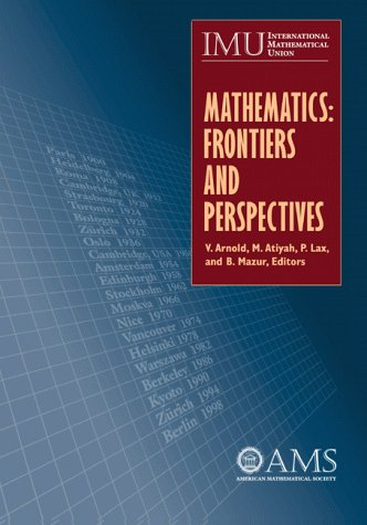 9780821820704: Mathematics: Frontiers and Perspectives (American Mathematics Society non-series title)