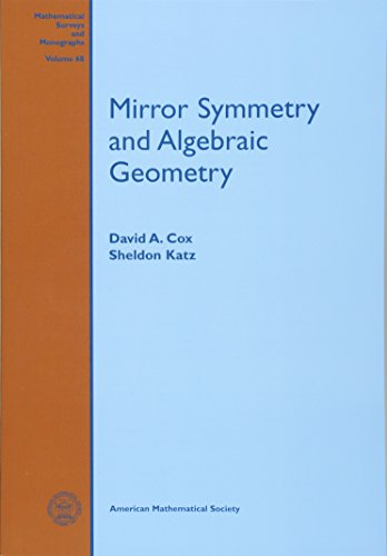 9780821821275: Mirror Symmetry and Algebraic Geometry (Mathematical Surveys and Monographs)