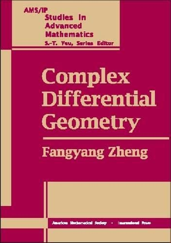 9780821821633: Complex Differential Geometry (Ams/Ip Studies in Advanced Mathematics)