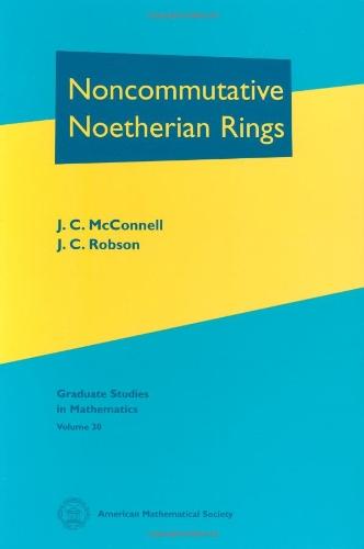 9780821821695: Noncommutative Noetherian Rings (Graduate Studies in Mathematics)