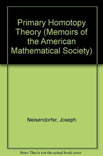 Primary Homotopy Theory (Memoirs of the American: Neisendorfer, Joseph