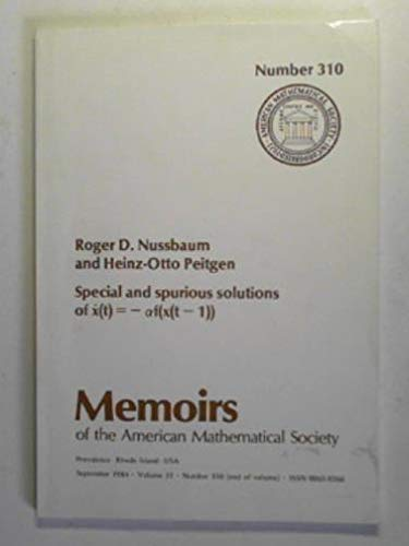 9780821823118: Special and Spurious Solutions of X (Memoirs of the American Mathematical Society)