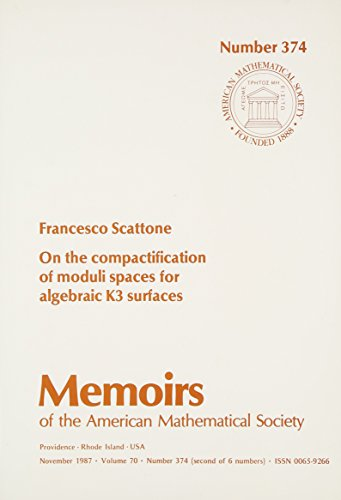 9780821824375: On the Compactification of Moduli Spaces for Algebraic K3 Surfaces (Memoirs of the American Mathematical Society)