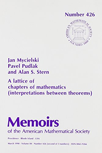 9780821824887: A Lattice of Chapters of Mathematics: Interpretations Between Theorems (Memoirs of the American Mathematical Society)