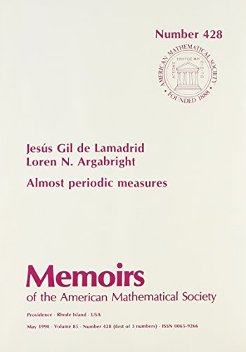 9780821824900: Almost Periodic Measures (Memoirs of the American Mathematical Society)