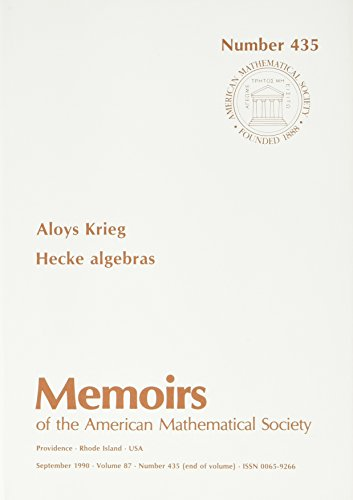 9780821824979: Hecke Algebras (Memoirs of the American Mathematical Society)