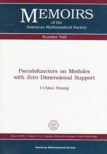 Pseudofunctors on Modules With Zero Dimensional Support (Memoirs of the American Mathematical ...
