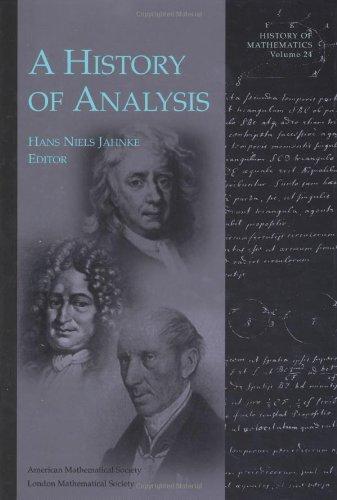 9780821826232: A History of Analysis (History of Mathematics, V. 24)
