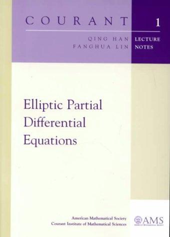 9780821826911: Elliptic Partial Differential Equations