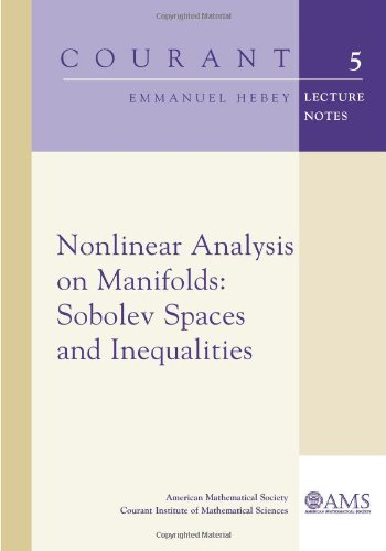 9780821827000: Nonlinear Analysis on Manifolds: Sobolev Spaces and Inequalities (Courant Lecture Notes)