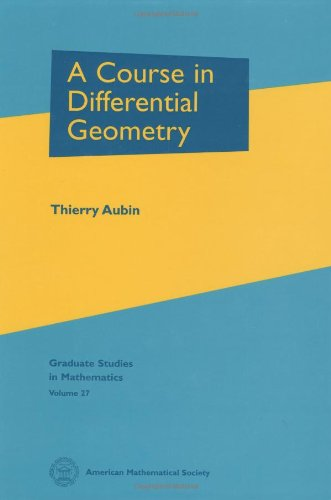 9780821827093: A Course in Differential Geometry