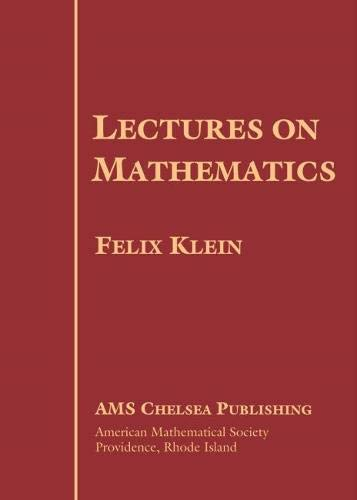 9780821827338: Lectures on Mathematics (AMS Chelsea Publishing)