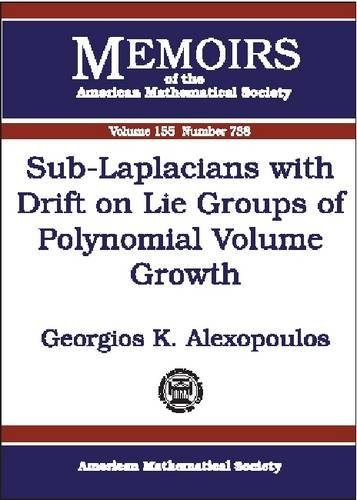 9780821827642: Sub-Laplacians with Drift on Lie Groups of Polynomial Volume Growth