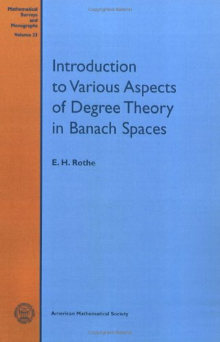Introduction to Various Aspects of Degree Theory: Rothe, E H