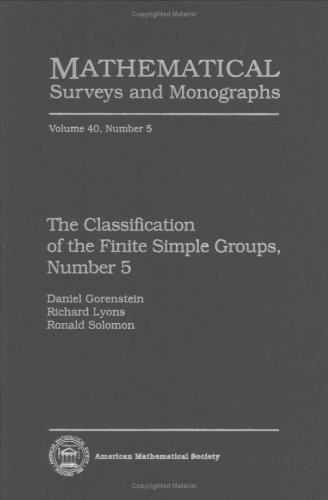 9780821827765: The Classification of the Finite Simple Groups, Number 5 (Mathematical Surveys & Monographs) (No. 5)