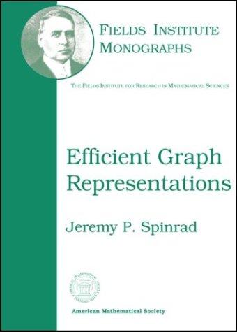 9780821828151: Efficient Graph Representations (Fields Institute Monographs, 19)