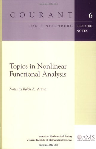 9780821828199: Topics in Nonlinear Functional Analysis (Courant Lecture Notes Series, 6)