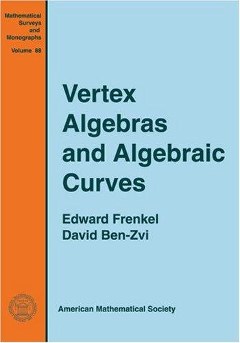 9780821828946: Vertex Algebras and Algebraic Curves (Mathematical Surveys & Monographs)