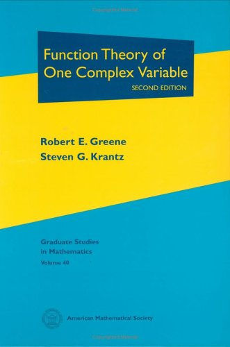 9780821829059: Function Theory of One Complex Variable (Graduate Studies in Mathematics, 40)