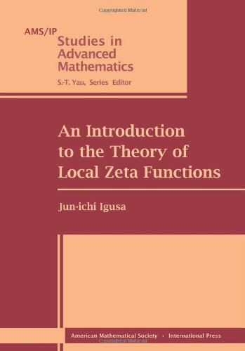 9780821829073: An Introduction to the Theory of Local Zeta Functions (Ams/Ip Studies in Advanced Mathematics)