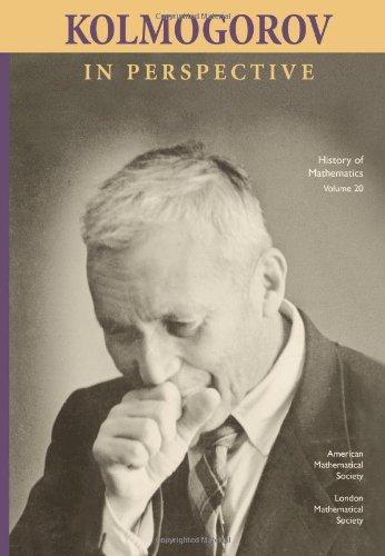 9780821829189: Kolmogorov in Perspective (History of Mathematics) (History of Mathematics No 20)
