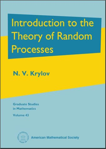 9780821829851: Introduction to the Theory of Random Processes (Graduate Studies in Mathematics)