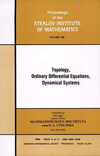 9780821831007: Topology, Ordinary Differential Equations, Dynamical Systems: A Collection of Survey Articles, Pt II (Proceedings of the Steklov Institute of Mathematics)
