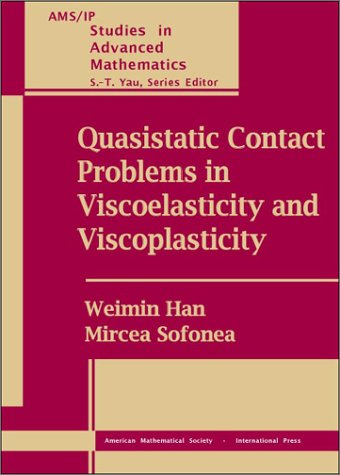 9780821831922: Quasistatic Contact Problems in Viscoelasticity and Viscoplasticity (AMS/IP Studies in Advanced Mathematics)