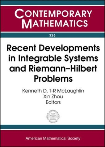 9780821832035: Recent Developments in Integrable Systems and Riemann--Hilbert Problems