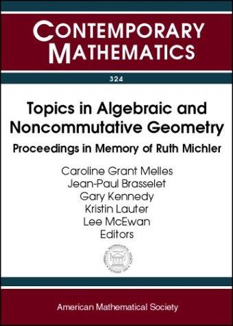 Topics In Algebraic And Noncommutative Geometry Proceedings: Caroline Grant Melles,