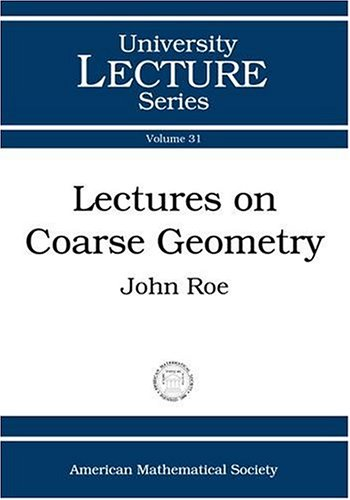 9780821833322: Lectures on Coarse Geometry (University Lecture Series)