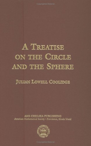 9780821834886: A Treatise on the Circle and the Sphere (Ams Chelsea Publishing)