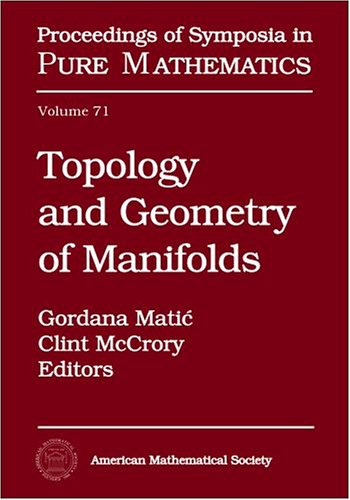 9780821835074: Topology and Geometry of Manifolds (Proceedings of Symposia in Pure Mathematics)