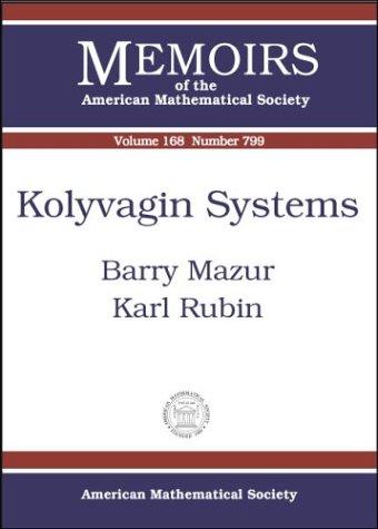 9780821835128: Kolyvagin Systems