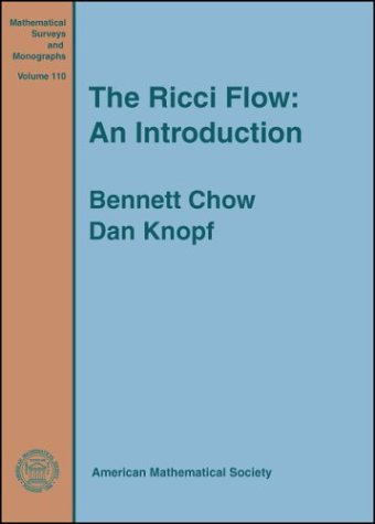 9780821835159: The Ricci Flow: An Introduction (Mathematical Surveys and Monographs)