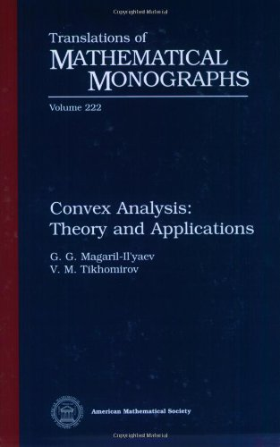 9780821835258: Convex Analysis: Theory and Applications (Translations of Mathematical Monographs)